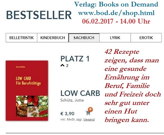 LOW CARB als Bestseller