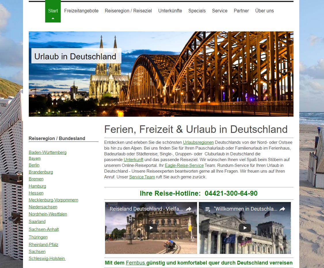 Reiseportal: Traumhaftes-Deutschland.de - Ferien, Freizeit & Urlaub in Deutschland erleben!