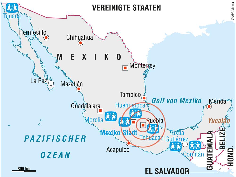 Erdbeben in Mexiko: Kinder und Mitarbeiter der SOS-Kinderdörfer unverletzt