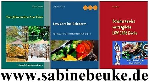 Drei Kochbücher für den gereizten Darm (Low Carb)