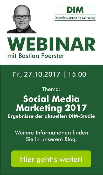 "Live-Webinar ""Social Media Marketing Studie 2017"""