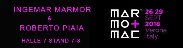 Roberto Piaia bei Marmomac Messe Verona 2018