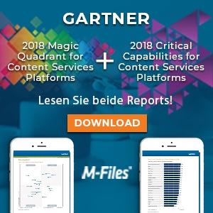 M-Files führt in 5 wesentlichen Funktionen in Gartner-Report über Content-Services-Plattformen
