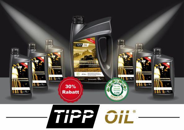 TIPP OIL WELTWEIT ERSTER PRODUZENT MIT PFANDSYSTEM