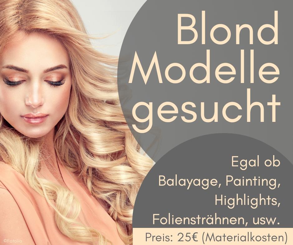 Modelle gesucht. Auf gesundem Wege die Haare blond färben - das geht!