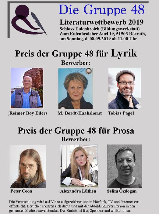 Vierter Literaturwettbewerb in Rösrath im Schloss Eulenbroich
