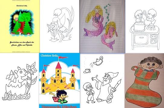 Grosser Lese- und Ausmalspaß für kleine Künstler
