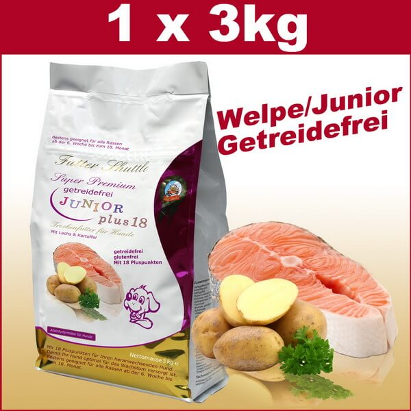 Getreidefreies Welpen Trockenfutter und Junior Hundefutter Plus 18