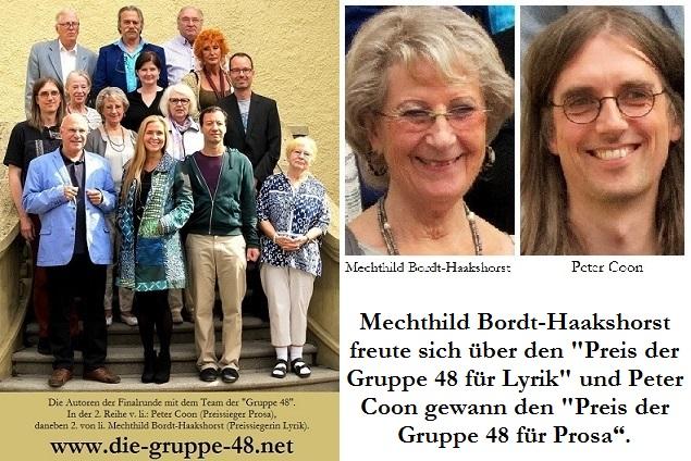 Sieger der Literaturwettbewerbs der Gruppe 48 e.V.