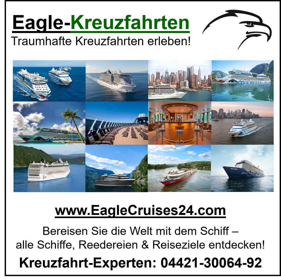 Traumhafte Kreuzfahrten erleben! www.EagleCruises24.com
