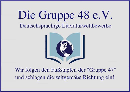"""Literaturwettbewerb 2020 """"Die Gruppe 48 e.V."""""""