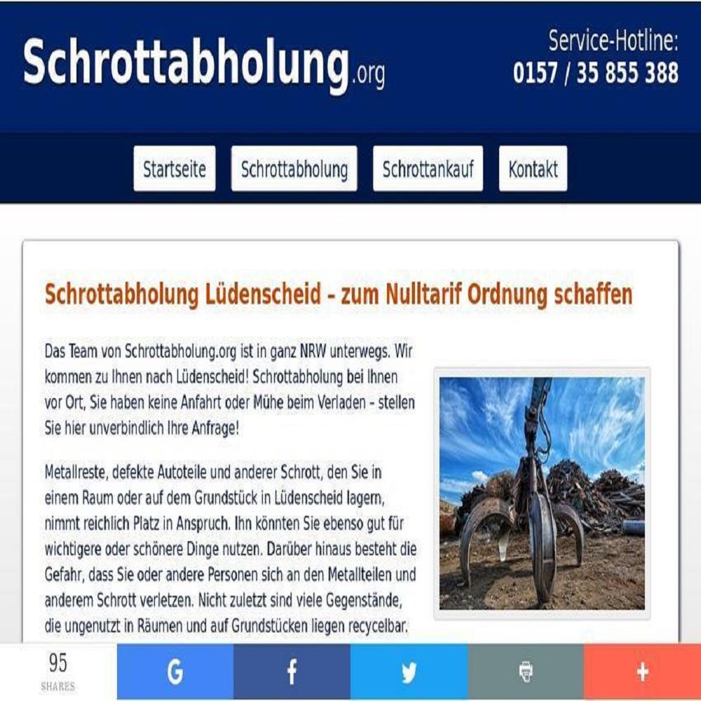 Schrottabholung Lüdenscheid - Metallschrott dem Schrott-Recycling zu