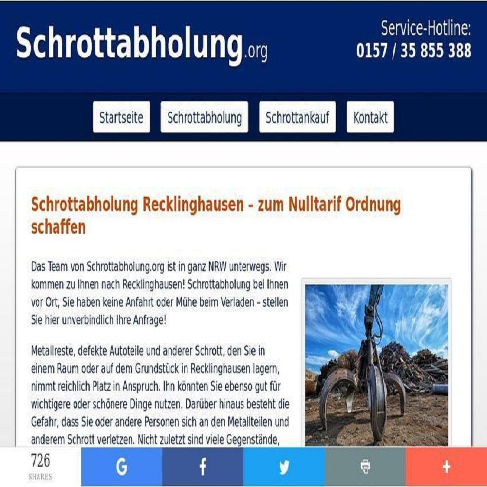 Professionelles Recycling spezialisiert sind Die Schrottabholung Recklinghausen