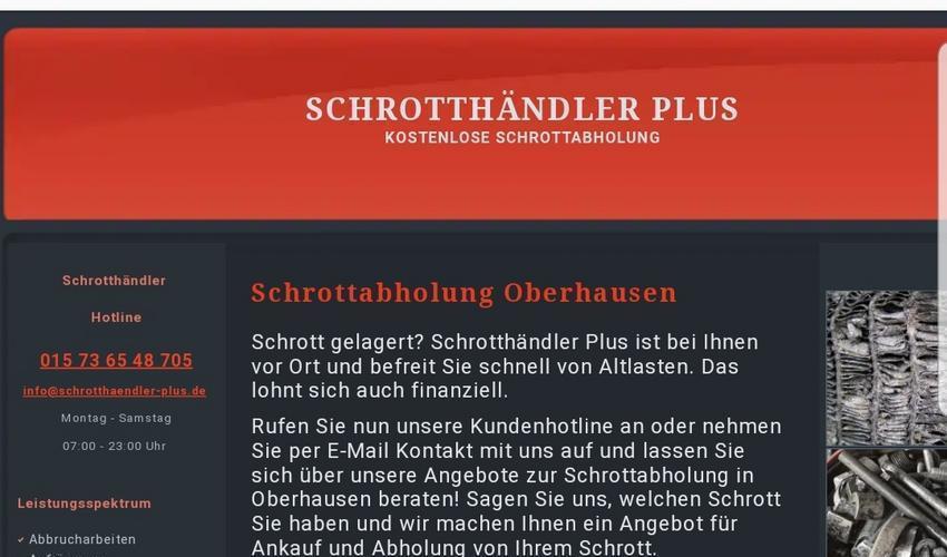 Altmetall Ankauf zu guten Preisen in Oberhausen und Umgebung
