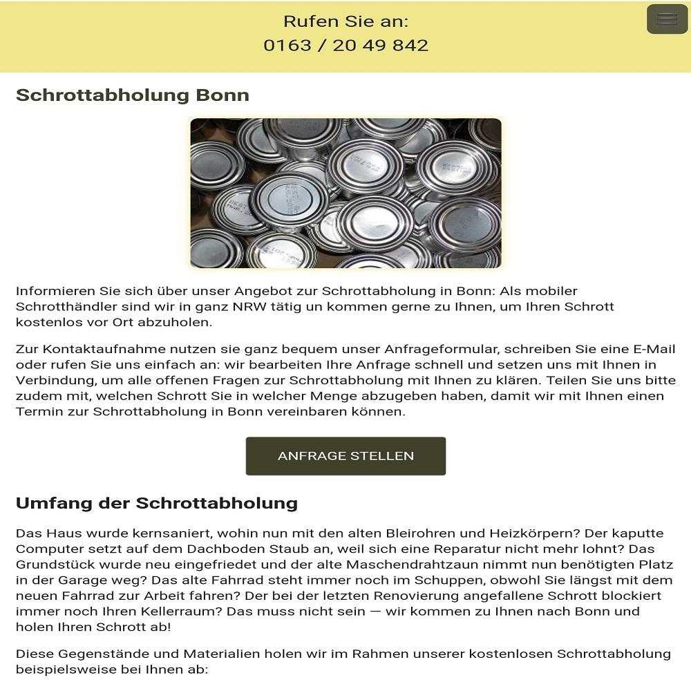 Tradition und Zukunft der Schrottabholung in Detmold und NRW