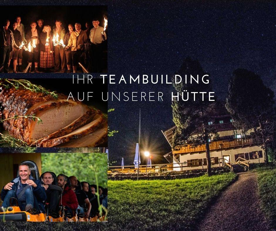 Outdoor Event mit Ihren Kollegen geplant? Wir laden Sie auf unsere urige Hütte in den Bergen ein!