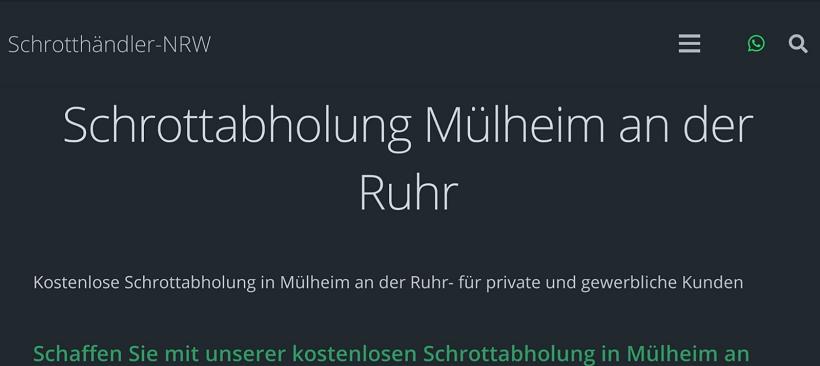 Entrümpelung und Ordnung mit dem Schrotthändler-NRW in Mülheim an der Ruhr