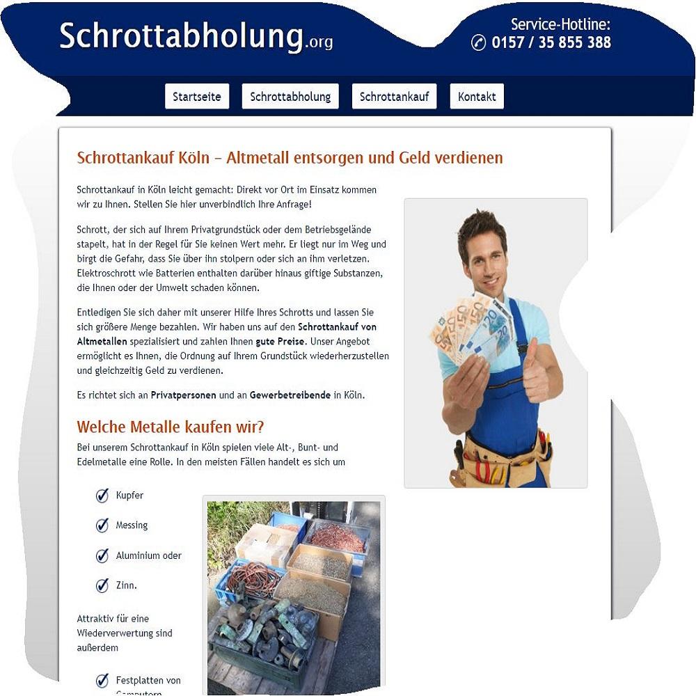 Der Schrottankauf in Köln holt Schrott kostenlos beim Kunden ab