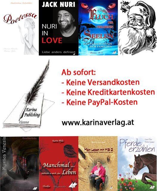Bestellen Sie Ihre Weihnachtsgeschenke jetzt versandkostenfrei direkt beim Karina-Verlag!