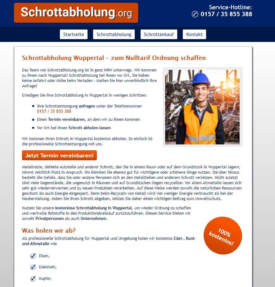 Schrottabholung Wuppertal – zu jeder Zeit möglich