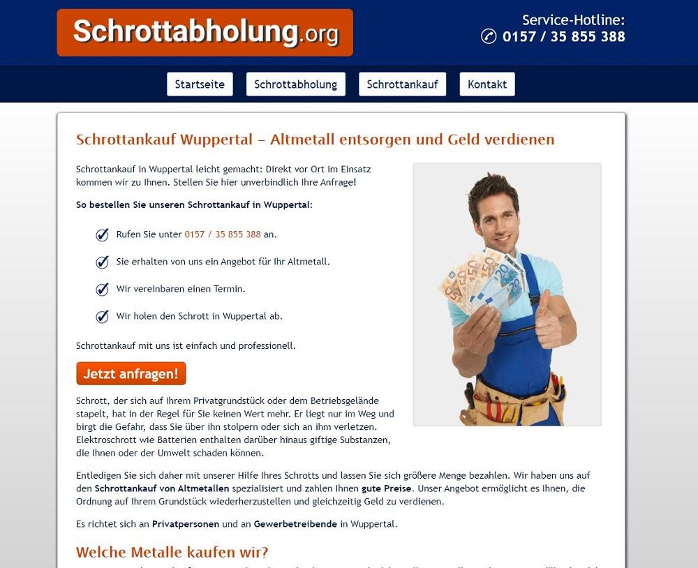 Der Schrottankauf Wuppertal holt Schrott kostenlos beim Kunden ab