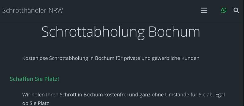Entrümpelung und Ordnung mit dem Schrotthändler-NRW in Bochum