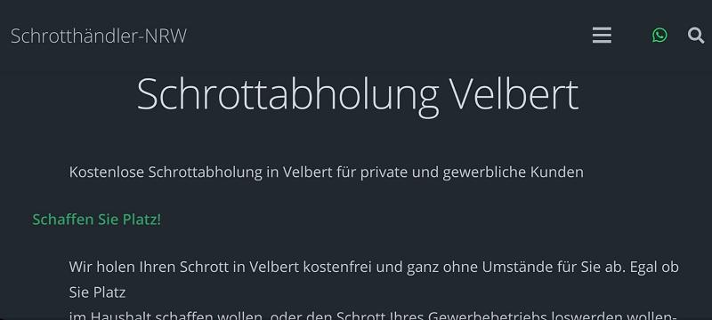 Entrümpelung und Ordnung mit dem Schrotthändler-NRW in Velbert