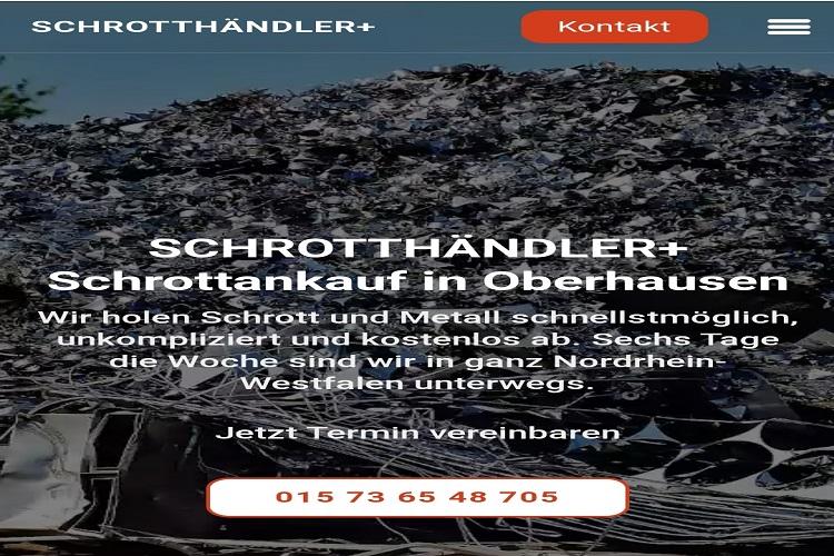 Wir kaufen Ihr Altmetall in Oberhausen und Umgebung Kostenloser Service durch mobile Schrotthändler