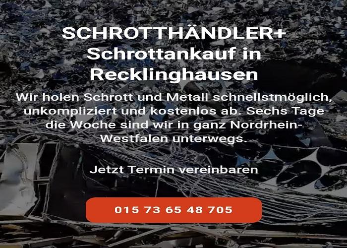 Wir kaufen Ihr Altmetall in Recklinghausen und Umgebung & Kostenloser Service durch den Transport