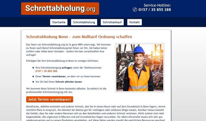 Die Schrottabholung Bonn ermöglicht es allen Haushalten, ihren Schrott kostenlos abholen zu lassen