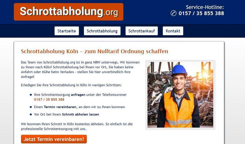 Schrottabholung Köln mit bestem Service