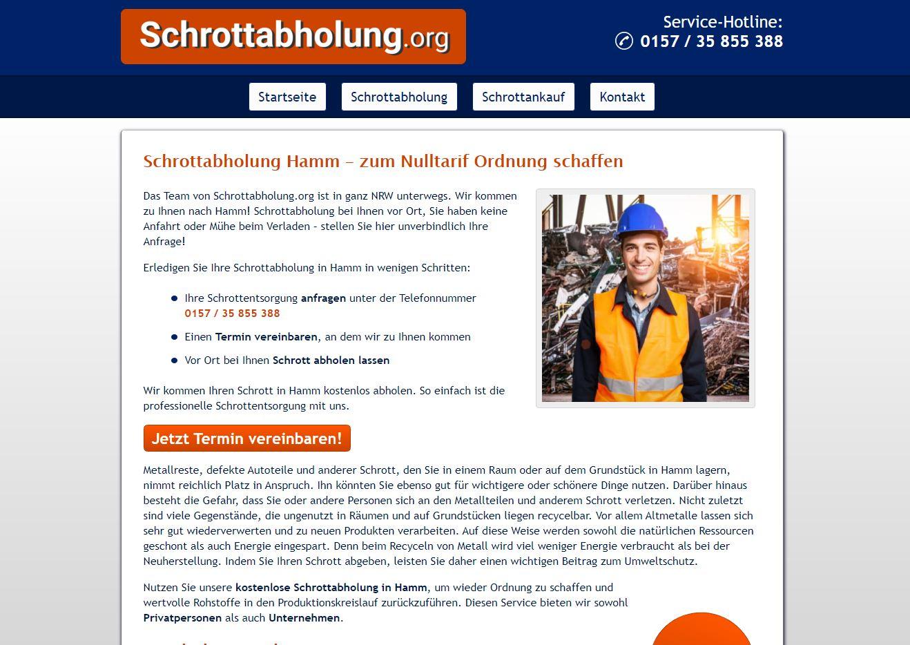Schrottabholung Hamm – Ordentliche Entsorgung von Altmetallen