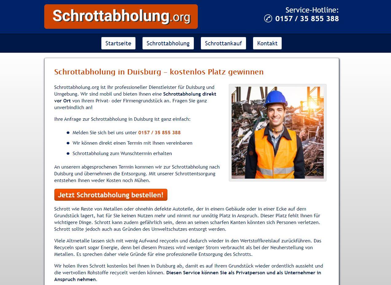 Unkomplizierte Schrottentsorgung durch die Schrottabholung Duisburg