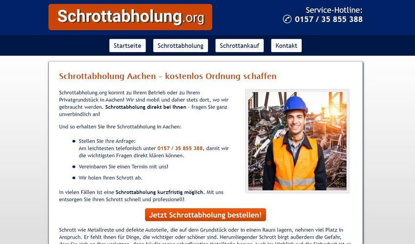 Die Schrottabholung Aachen sammelt Schrott nicht nur in Aachen selbst, sondern auch im benachbarten Holzminden kostenlos ein