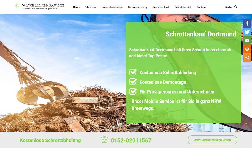 Schrottankauf in Dortmund und Umgebung kauft Ihre Altschrott zu fairen Preisen