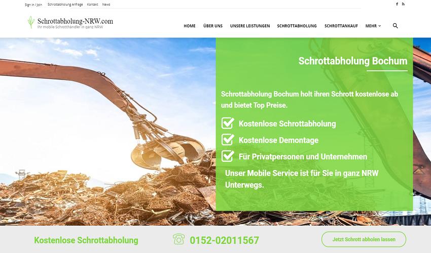 Schrottabholung Bochum entsorgt Metalle und Schrott aller Art