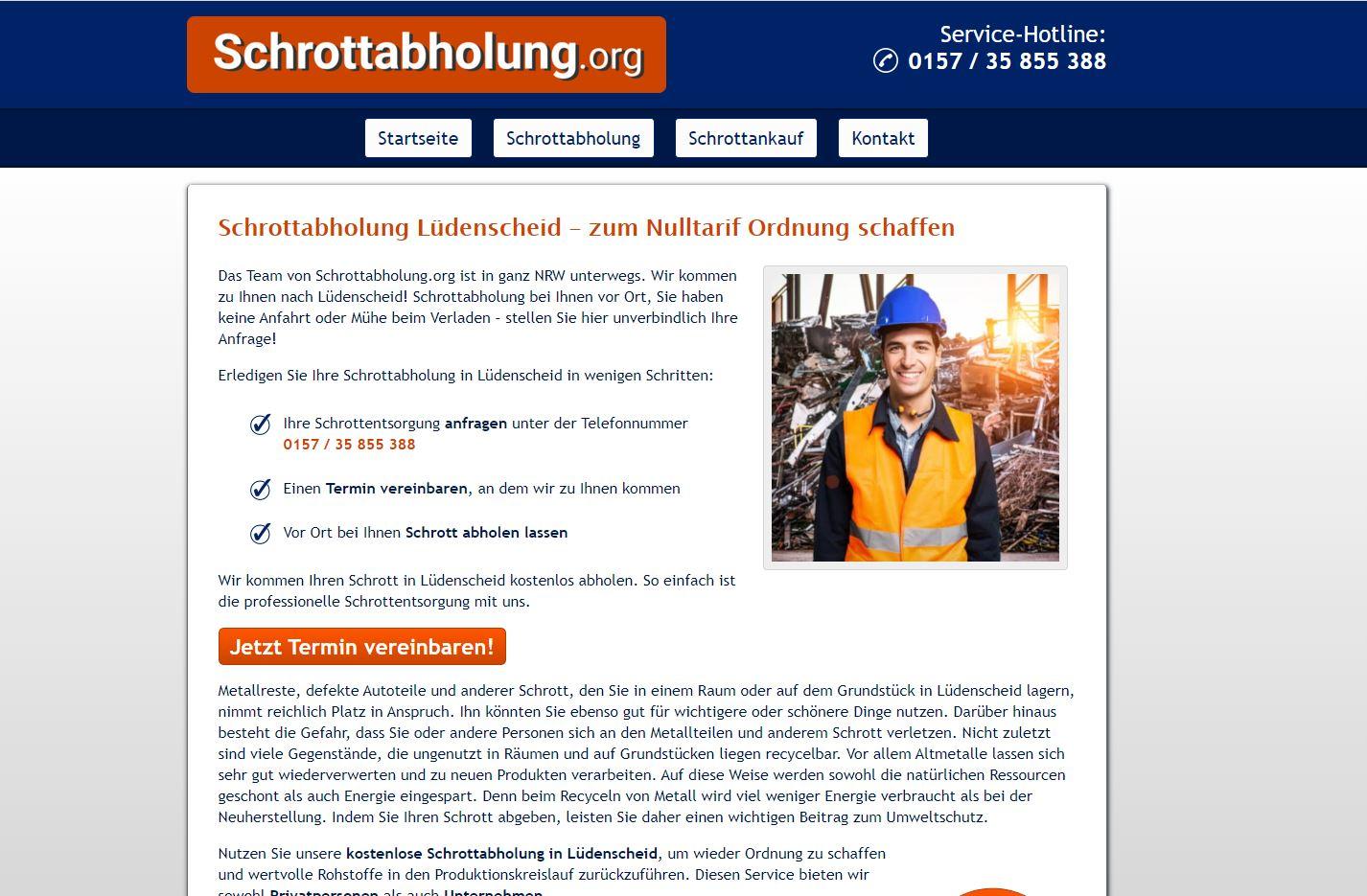 Unkomplizierte Schrottentsorgung durch die Schrottabholung in Lüdenscheid