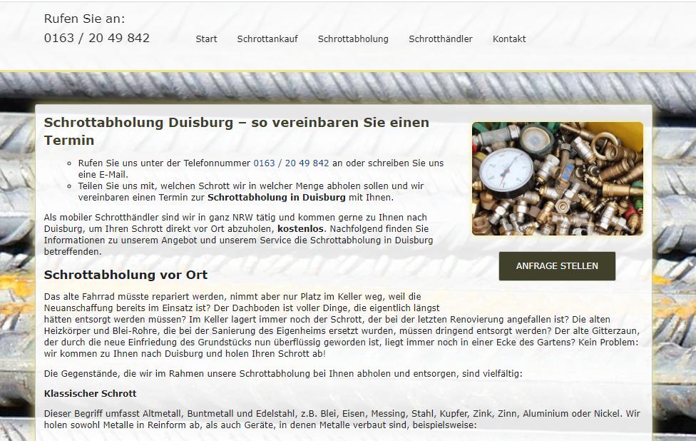 Befreien Sie sich vom Schrott – kostenlos mit der Schrottabholung Duisburg und ganz NRW