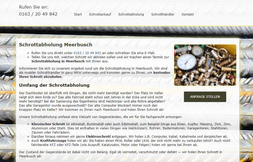 Fahrende Schrotthändler kaufen Schrott in Meerbusch