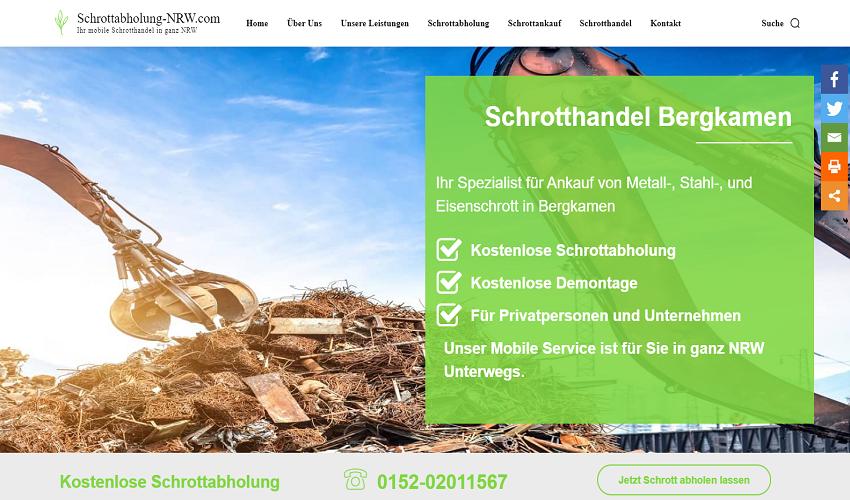 Schrotthändler Bergkamen holt Ihren Schrott kostenlos in ganz NRW direkt vor Ort ab
