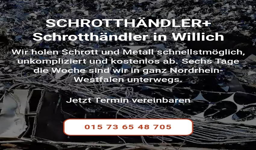 Der mobile Schrotthändler willich & Mit Altmetall lässt sich Geld verdienen