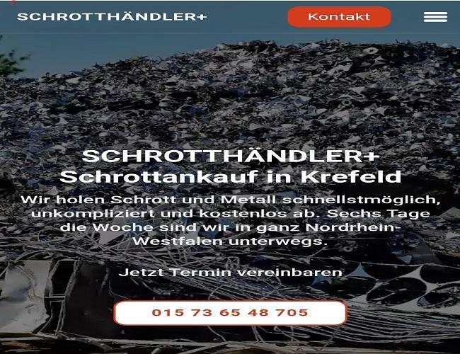 der Schrottankauf Krefeld & Wir holen Ihren Schrott ab und zahlen faire Preise