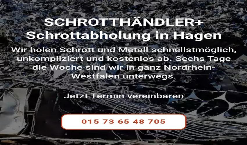 Durch eine professionelle Schrottabholung in Hagen Wir holen ihren Schrott auch Privat oder Gewerblich gerne ab