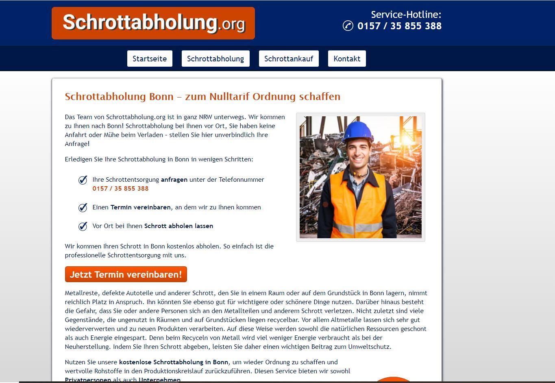 Metall aller Art abholen lassen: Schrottabholung in Bonn