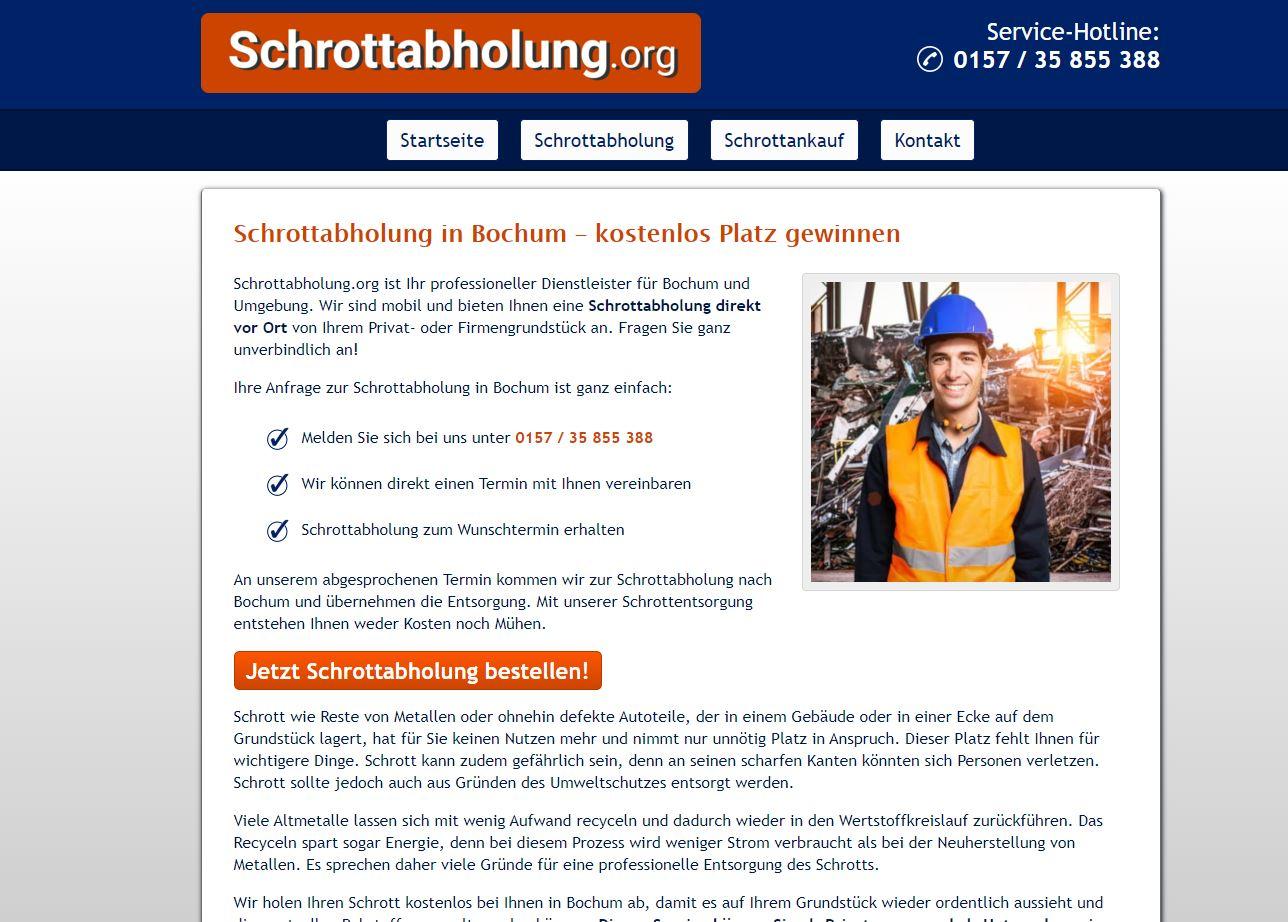 Unkomplizierte Schrottentsorgung durch die Schrottabholung Bochum