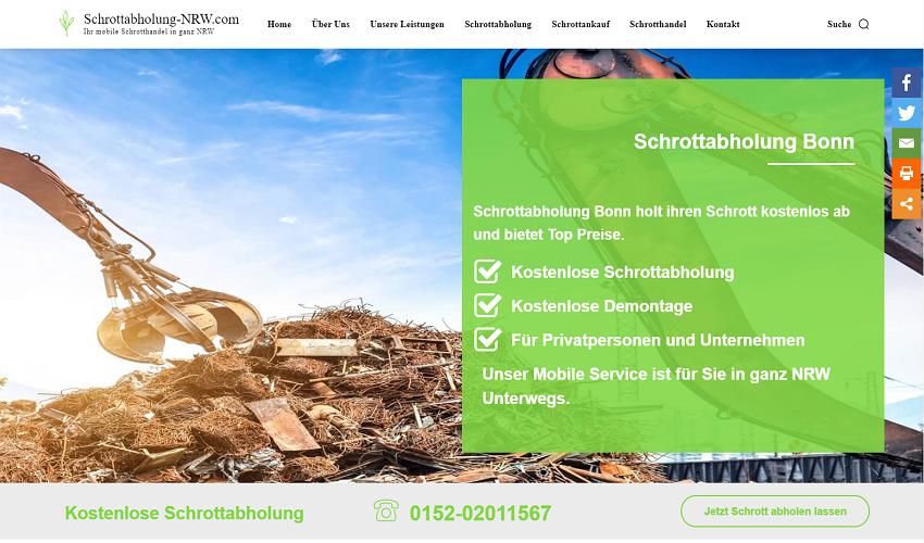 Schrottabholung Bonn holt ihren Schrott und Metall ab mit Zuverlassigkeit und gegen Geld