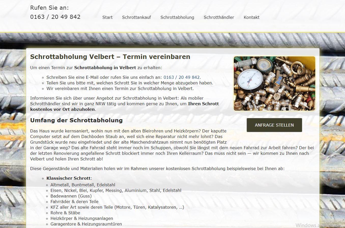 Entsorgung Von Schrott & Metalle in Velbert