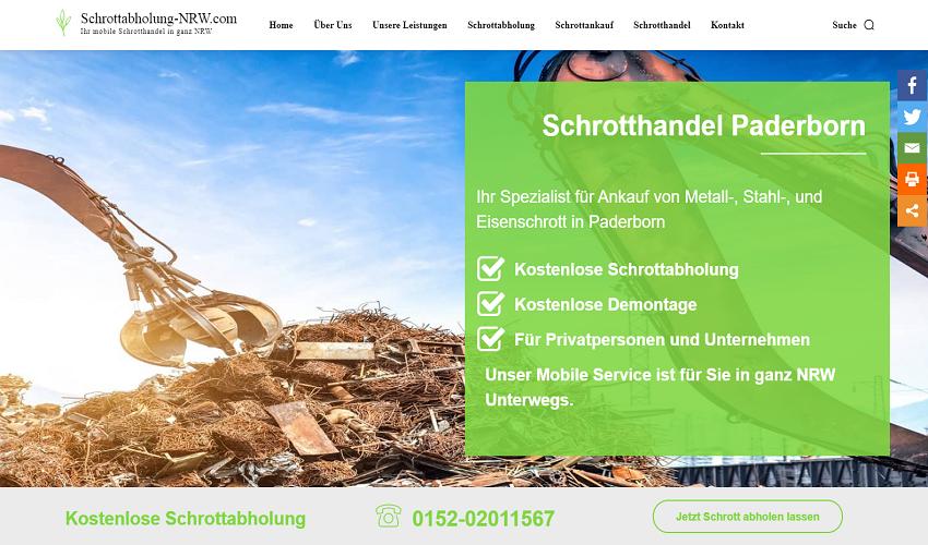 Unsere Schrotthändler in Paderborn ist seit 10 Jahren Ihr Partner in Sachen Schrott und Metall