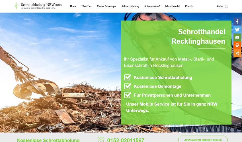 Schrotthändler Recklinghausen, Wir kümmern uns um Ihren Schrott