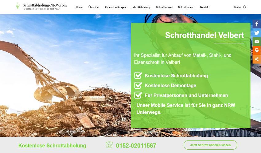 Schrotthändler Velbert - Metallabholung und Schrottentsorgung